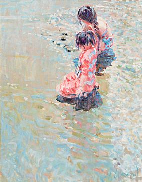 Arthur K. Maderson (b.1942), Girls on the Beach at Morgan O'Driscoll Art Auctions