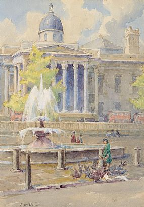 Mary Georgina Barton (1861-1949), Trafalgor Square at Morgan O'Driscoll Art Auctions