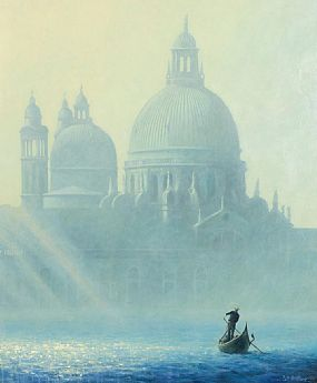 Terence J. Gilbert (b.1946) British, Sunlight and Mist, The Salute, Venice at Morgan O'Driscoll Art Auctions