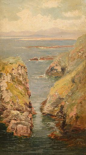 Alexander Williams RHA (1846-1930), A Rocky Cove, Achill at Morgan O'Driscoll Art Auctions