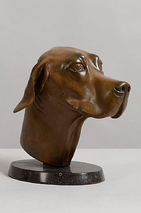 Elizabeth O'Kane (20th/21st Century), Head of a Hound (2003) at Morgan O'Driscoll Art Auctions