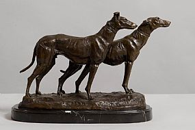 Emmanuel Fremiet (1824-1910), Chiens Levriers at Morgan O'Driscoll Art Auctions