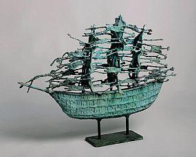 John Behan RHA (b.1932), Ghost Famine Ship at Morgan O'Driscoll Art Auctions