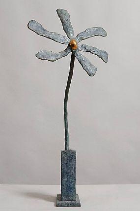 Michael Smyth (b.1961), Flower in Blue at Morgan O'Driscoll Art Auctions