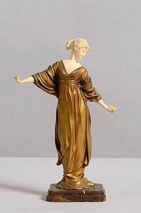 20th Century French School, Figure of a Lady at Morgan O'Driscoll Art Auctions