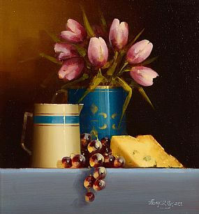 David Ffrench, Still Life With Tulips at Morgan O'Driscoll Art Auctions