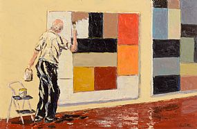 Ivan Sutton, Homage to Sean Scully's Painting Wall of Light at Morgan O'Driscoll Art Auctions