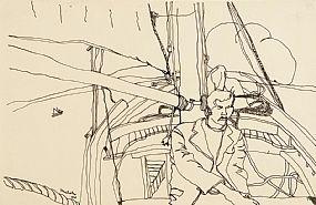 Nick Nicholls, Man Seated by Mast at Morgan O'Driscoll Art Auctions