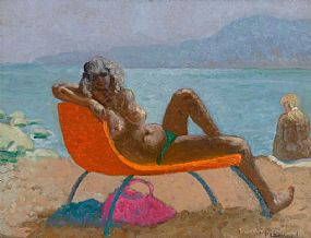 Patrick Leonard, Nude Sunbathing at Morgan O'Driscoll Art Auctions