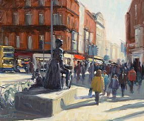 Norman Teeling, Molly Malone on Grafton Street at Morgan O'Driscoll Art Auctions