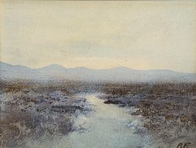 Percy French, Bog Landscape, Co. Mayo at Morgan O'Driscoll Art Auctions