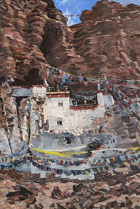 Hector McDonnell, Goragem Monastery, Tibet at Morgan O'Driscoll Art Auctions