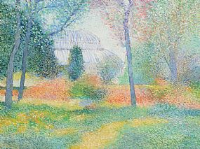Victor Richardson, The Palm House, Glasnevin at Morgan O'Driscoll Art Auctions