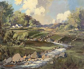 George Gillespie, Farmstead, West of Ireland at Morgan O'Driscoll Art Auctions