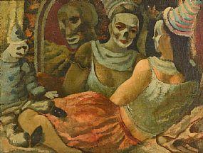 Daniel O'Neill, Masquerade at Morgan O'Driscoll Art Auctions