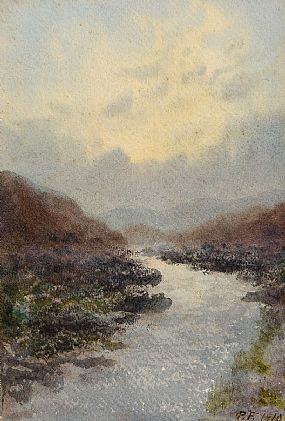 Percy French, West of Ireland Meandering Stream at Morgan O'Driscoll Art Auctions
