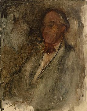 Basil Blackshaw, Potrait of a Gentleman at Morgan O'Driscoll Art Auctions