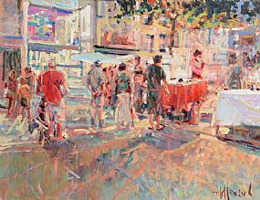 Arthur K. Maderson, The Night Market, Le Vigan France at Morgan O'Driscoll Art Auctions