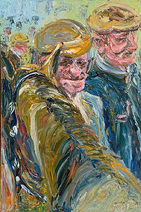Liam O'Neill, Old Pals - Puck Fair, Killorglin, Co Kerry at Morgan O'Driscoll Art Auctions