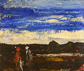 Daniel O'Neill, Two Figures in a Landscape at Morgan O'Driscoll Art Auctions