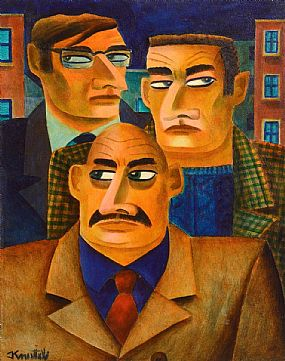 Graham Knuttel, The Gangsters at Morgan O'Driscoll Art Auctions