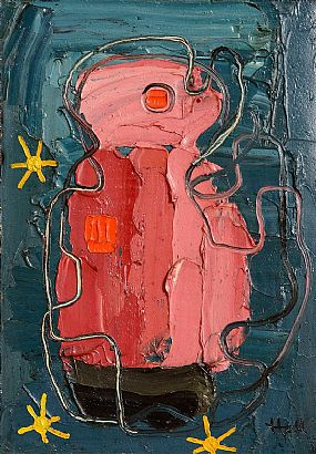 Kenneth Hall, Pink Figure at Morgan O'Driscoll Art Auctions