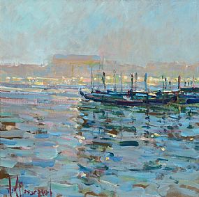Arthur K. Maderson, Foggy Morning, The Grand Canal, Venice at Morgan O'Driscoll Art Auctions