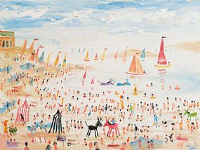 Simeon Stafford, Busy Day on the Beach at Morgan O'Driscoll Art Auctions