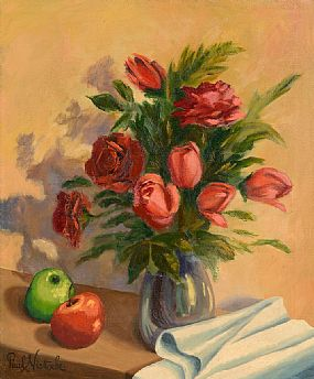 Paul Nietsche, Still Life - Flowers and Fruit at Morgan O'Driscoll Art Auctions