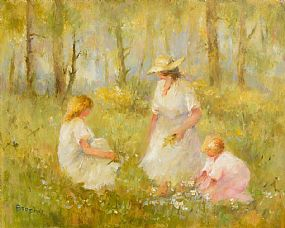Elizabeth Brophy, Picking Flowers with Mum at Morgan O'Driscoll Art Auctions