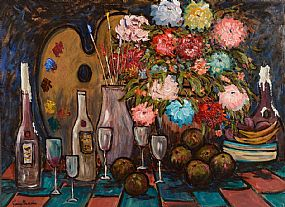 Gladys MacCabe, Still Life with Painters Palatte and Brushes at Morgan O'Driscoll Art Auctions