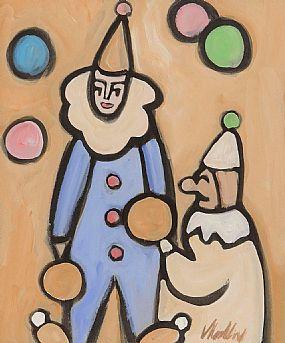 Markey Robinson, Juggling Clowns at Morgan O'Driscoll Art Auctions