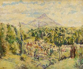 William Conor, The Sugarloaf from Enniskerry at Morgan O'Driscoll Art Auctions