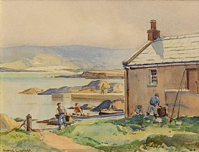 Maurice Canning Wilks, Bonagee Harbour, Co. Donegal at Morgan O'Driscoll Art Auctions