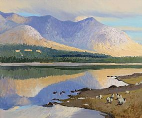Cecil Maguire, Inagh Valley, Connemara at Morgan O'Driscoll Art Auctions