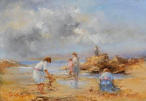 Elizabeth Brophy, Collecting Shells at Morgan O'Driscoll Art Auctions