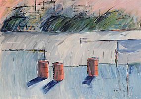 Donald Teskey, Three Red Barrels at Morgan O'Driscoll Art Auctions