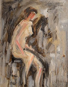 Basil Blackshaw, Seated Female Nude at Morgan O'Driscoll Art Auctions