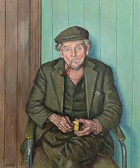 Robert Taylor, Lighting Up (Wee Dan - Dan Doherty, Downings, Co. Donegal) at Morgan O'Driscoll Art Auctions