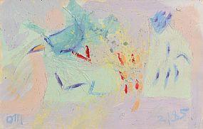 Tony O'Malley, Bahamas Collage (1985) at Morgan O'Driscoll Art Auctions