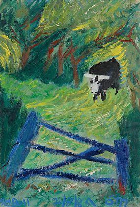 Tony O'Malley, The Bull at Morgan O'Driscoll Art Auctions
