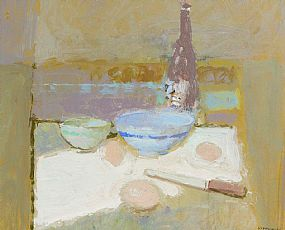 George Kennerley, Still Life with Bottle at Morgan O'Driscoll Art Auctions