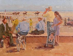 Desmond Hickey, A Day at the Races, Laytown at Morgan O'Driscoll Art Auctions