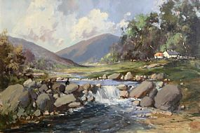 George Gillespie, Fisherman  in Connemara at Morgan O'Driscoll Art Auctions
