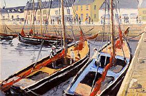 Ivan Sutton, Galway Hooker, Regatta Day, Kinvarra, Co. Galway at Morgan O'Driscoll Art Auctions