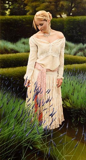 John Waterhouse, Lavender Picker at Morgan O'Driscoll Art Auctions