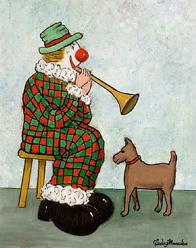 Gladys MacCabe, Clown Seranading His Pet at Morgan O'Driscoll Art Auctions