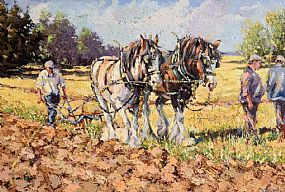 James S. Brohan, Ploughing at Morgan O'Driscoll Art Auctions