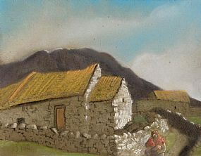 Harry Epworth Allen, Shawlie and Cottages, West of Ireland at Morgan O'Driscoll Art Auctions