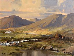 George Gillespie, Morning Sunlight, Maam Valley, Connemara at Morgan O'Driscoll Art Auctions
